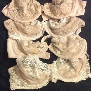 Set of Four (4) Lacy Bra's with underwire